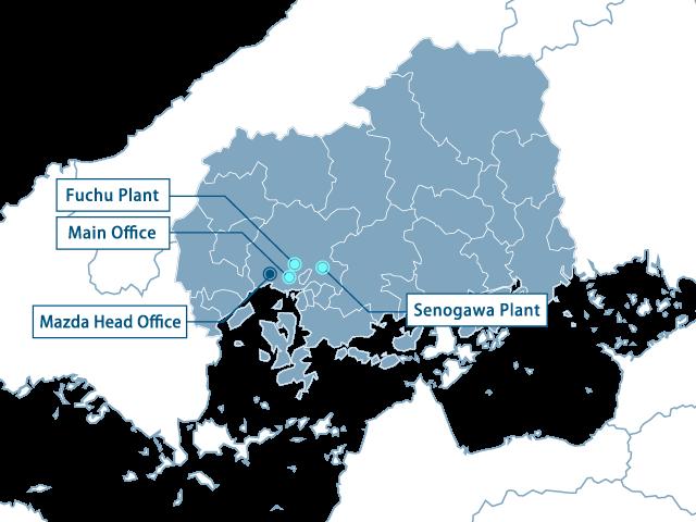Base map of Japan